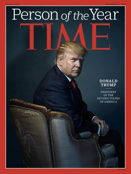 PÚBLICO - Donald Trump é a Personalidade do Ano da revista <i>Time</i>