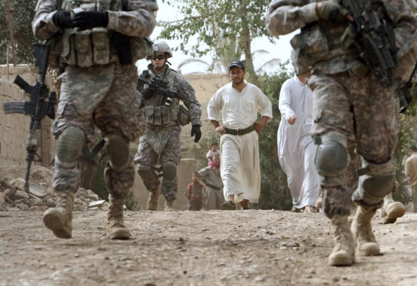 Soldados norte-americanos na província de Dyiala, no Iraque, em 2008