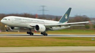 O Boeing 777 da Ceiba Internacional foi apreendido no aeroporto de Madrid
