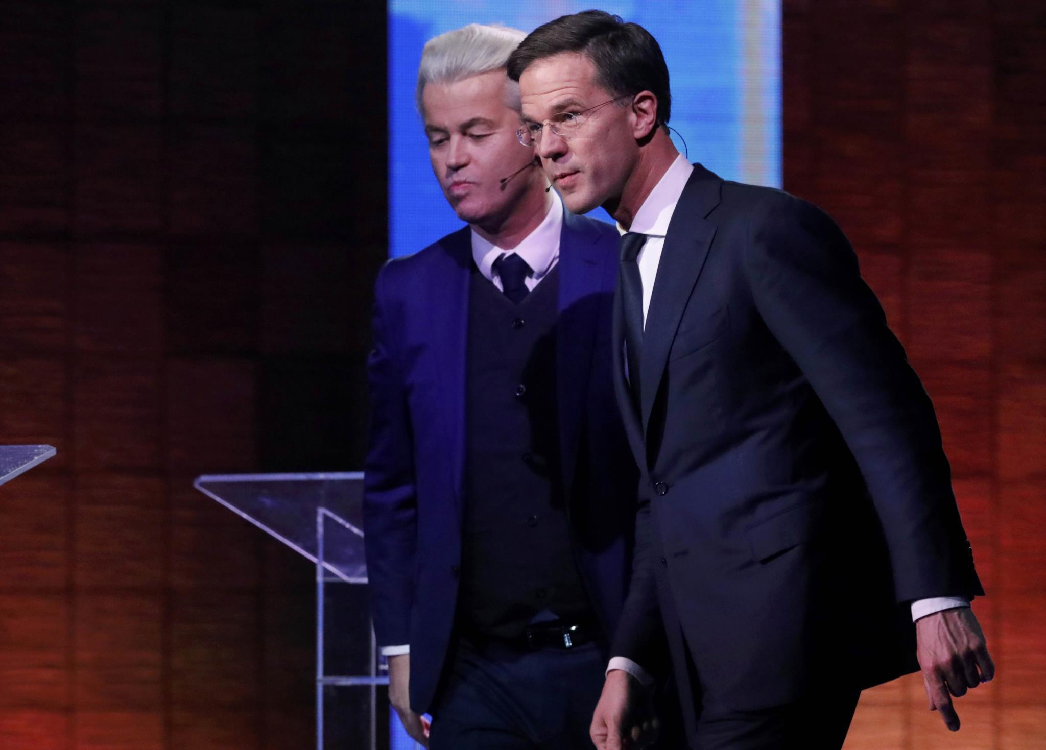 A tensão com a Turquia foi um dos temas do debate entre Rutte e Wilders