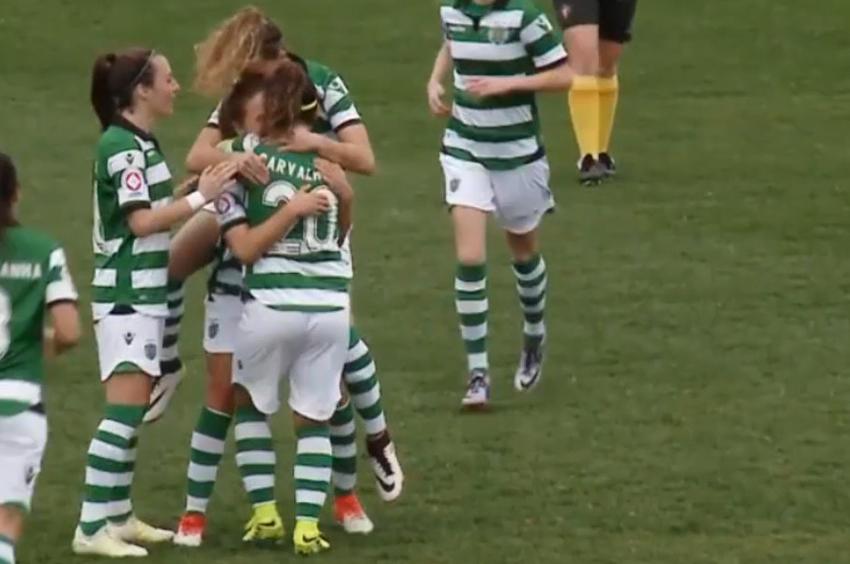 PÚBLICO - <i>Site</i> de futebol feminino elege golo do Sporting como o melhor do mês