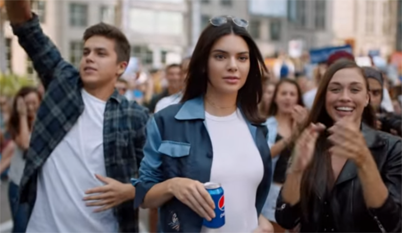 Pepsi advertisement offering Kendall Jenner