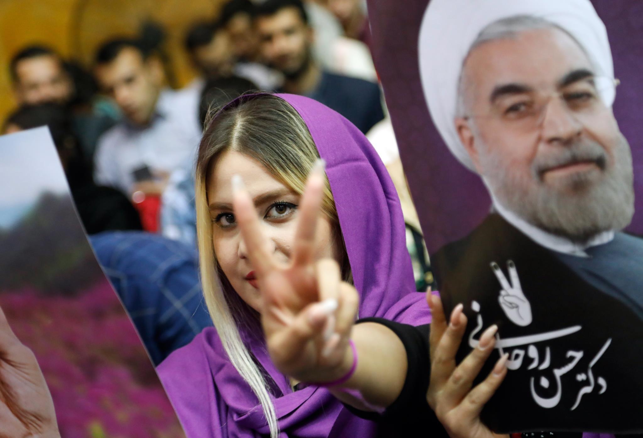 Comício a favor de Rouhani na quinta-feira