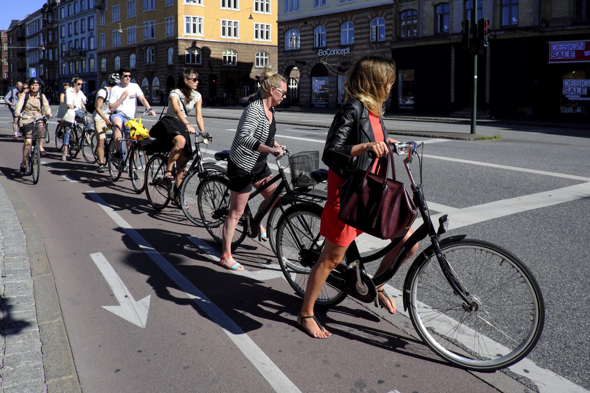 Nos últimos 20 anos, o tráfego de bicicletas aumentou 68% na Dinamarca