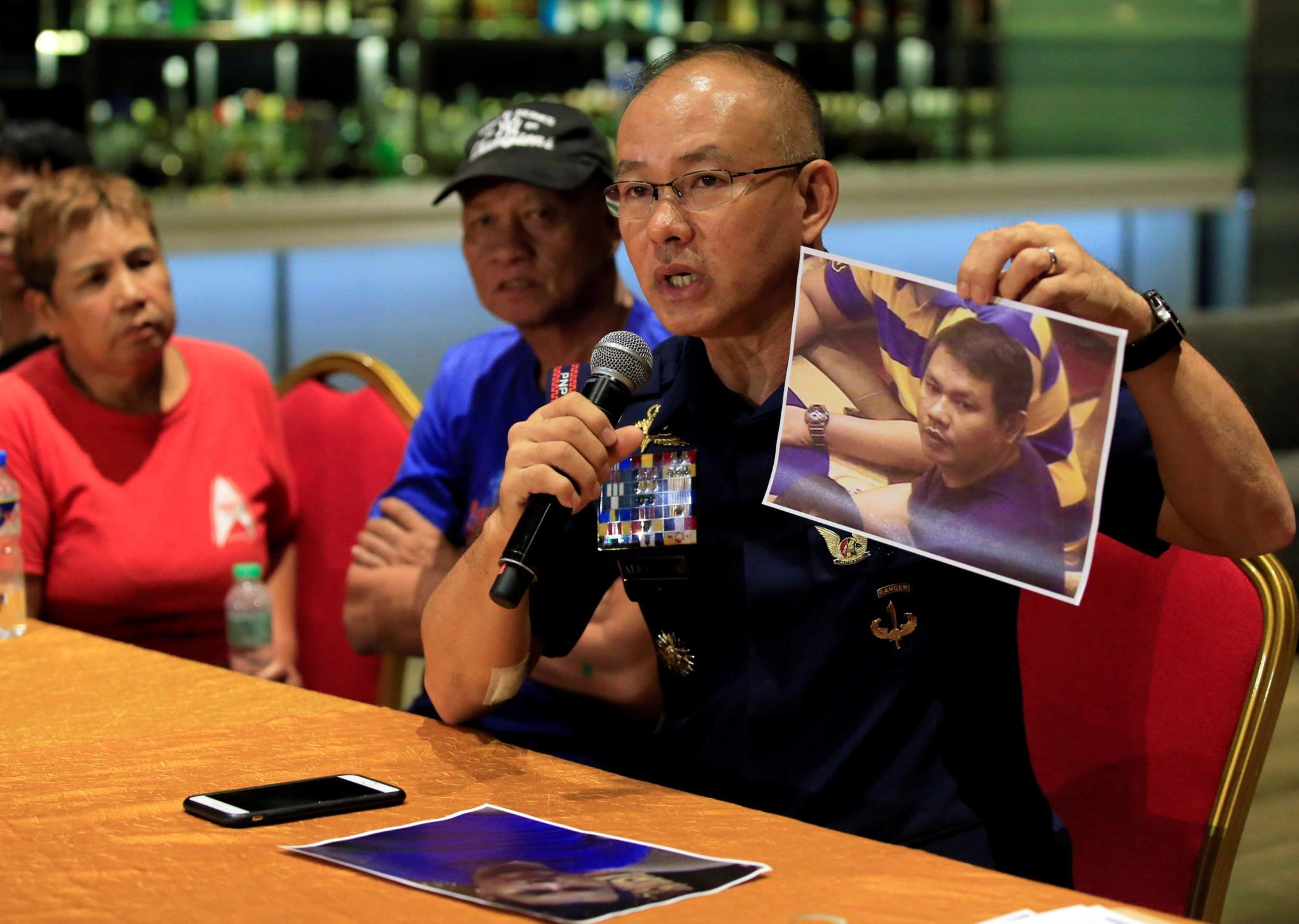 A polícia divulgou a identidade do homem durante uma conferência de imprensa