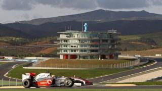 Testes da McLaren em Portimão, em 2009