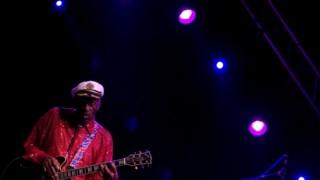 Já octagenário, Chuck Berry continuava a actuar regularmente em palco