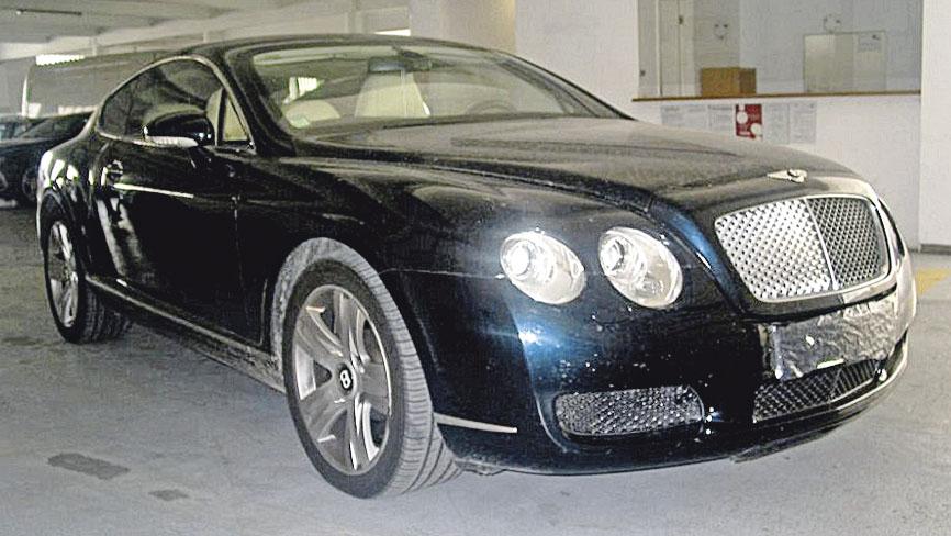 O Bentley de Hermínio Loureiro que foi apreendido pela Judiciária