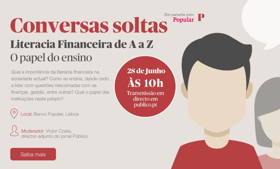 PÚBLICO - Jornal Público e Banco Popular conversam sobre literacia financeira