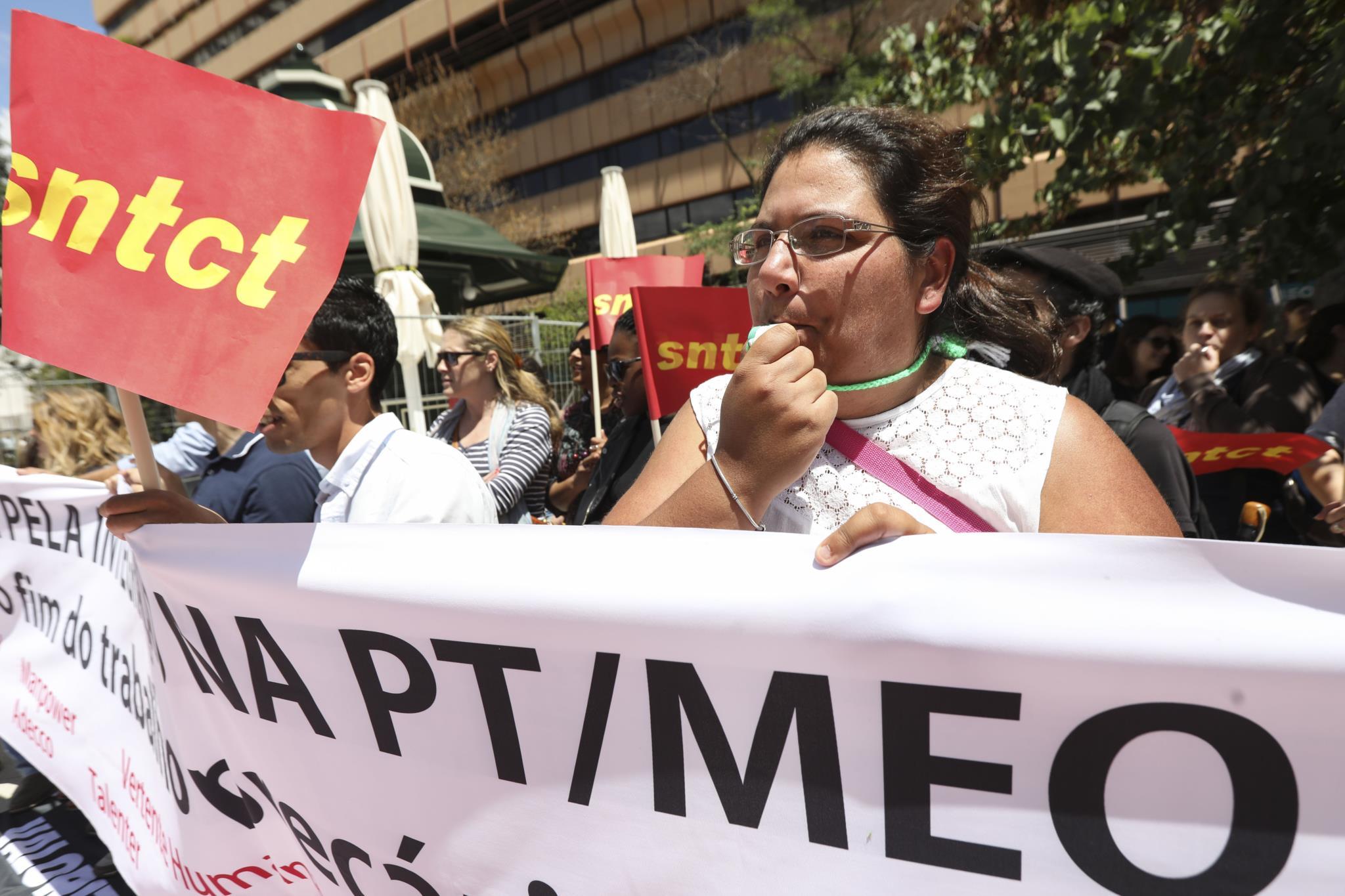 Sindicatos convidaram as duas centrais sindicais para participar e intervir na concentração à porta da sede da PT, no dia 21 de Julho
