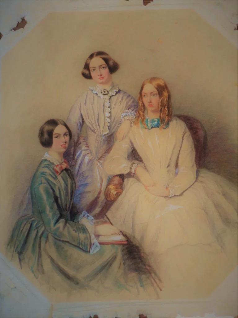 PÚBLICO - Retrato raro das irmãs Brontë pode ser leiloado por 45 mil euros