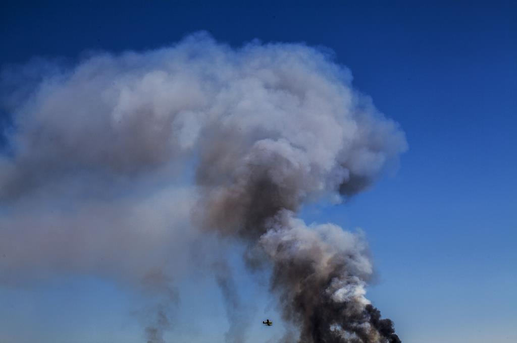 PÚBLICO - Vento dificulta combate aos incêndios em Gavião e na Sertã