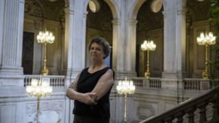 Catarina Vaz Pinto fotografada nos Paços do Concelho, em Lisboa