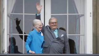 A rainha Margarida e o príncipe Henrik, no ano passado, durante as comemorações do 76º aniversário da rainha