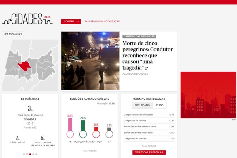 Cidades  PÚBLICO e jornais parceiros lançam site de jornalismo local    Jornalismo   PÚBLICO 7fb384e629