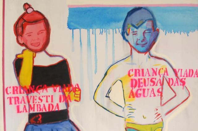Uma das obras no centro da polémica, assinada por Bia Leite em 2013