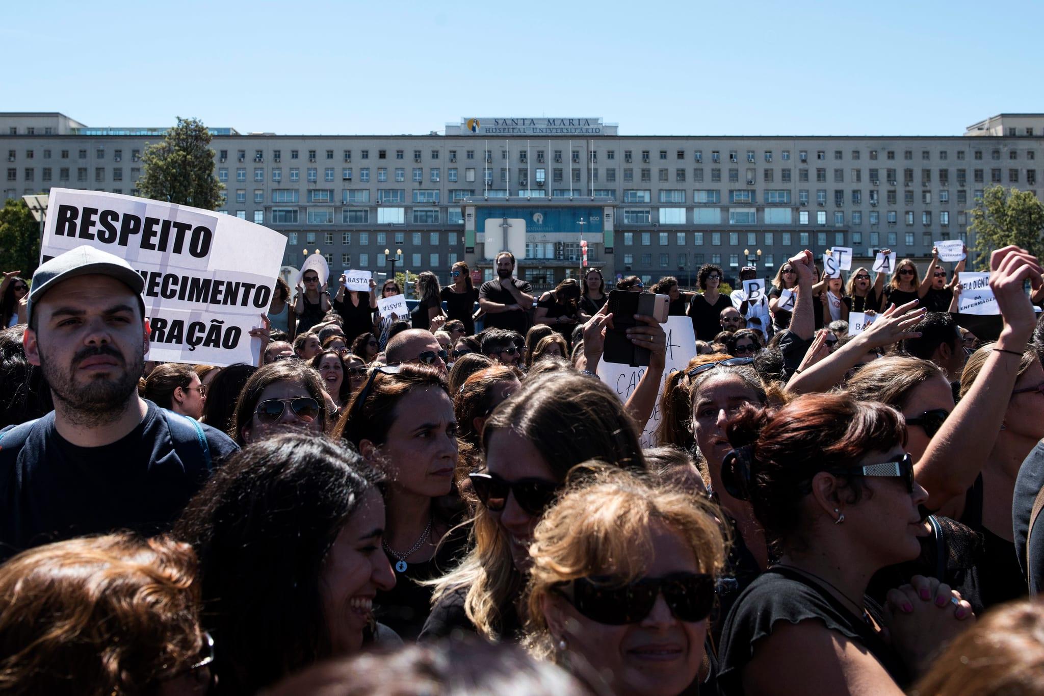 Protesto dos enfermeiros em Lisboa