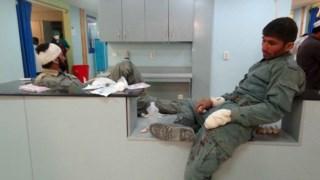 Dois feridos nos ataques desta terça-feira recebem tratamento num hospital de Paktia