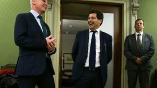 Byron Haynes, representante da Lone Star, e António Ramalho, que se mantém como CEO do Novo Banco até 2021
