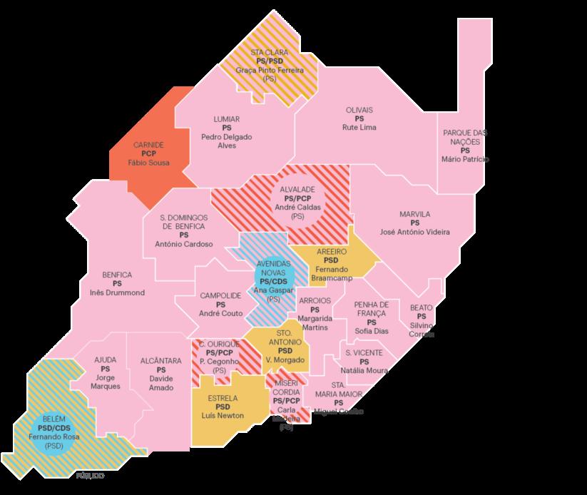 mapa freguesias lisboa É este o novo mapa político das freguesias de Lisboa | Autárquicas  mapa freguesias lisboa