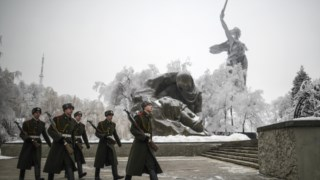 O Apelo da Pátria, uma escultura no centro de Volgogrado