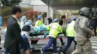 Soldado norte-coreano foi encaminhado para um hospital na Coreia do Sul