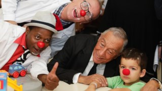 Marcelo Rebelo de Sousa visitou o Hospital Dona Estefânia