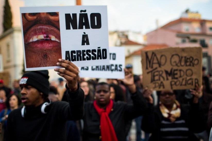 Manifestação em Lisboa contra a violência policial contra negros, um dos pontos que a ONU quer ver abordados pelos estados-membro