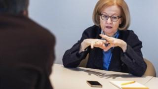 Danièle Nouy, presidente do conselho de supervisao do Mecanismo Unico de Supervisão