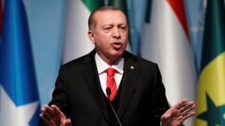 """O Presidente turco, Recep Tayyip Erdogan, diz que o mundo deve """"reconhecer Jerusalém Oriental como a capital da Palestina"""""""