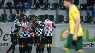 O Boavista festejou duas vezes contra o Paços de Ferreira
