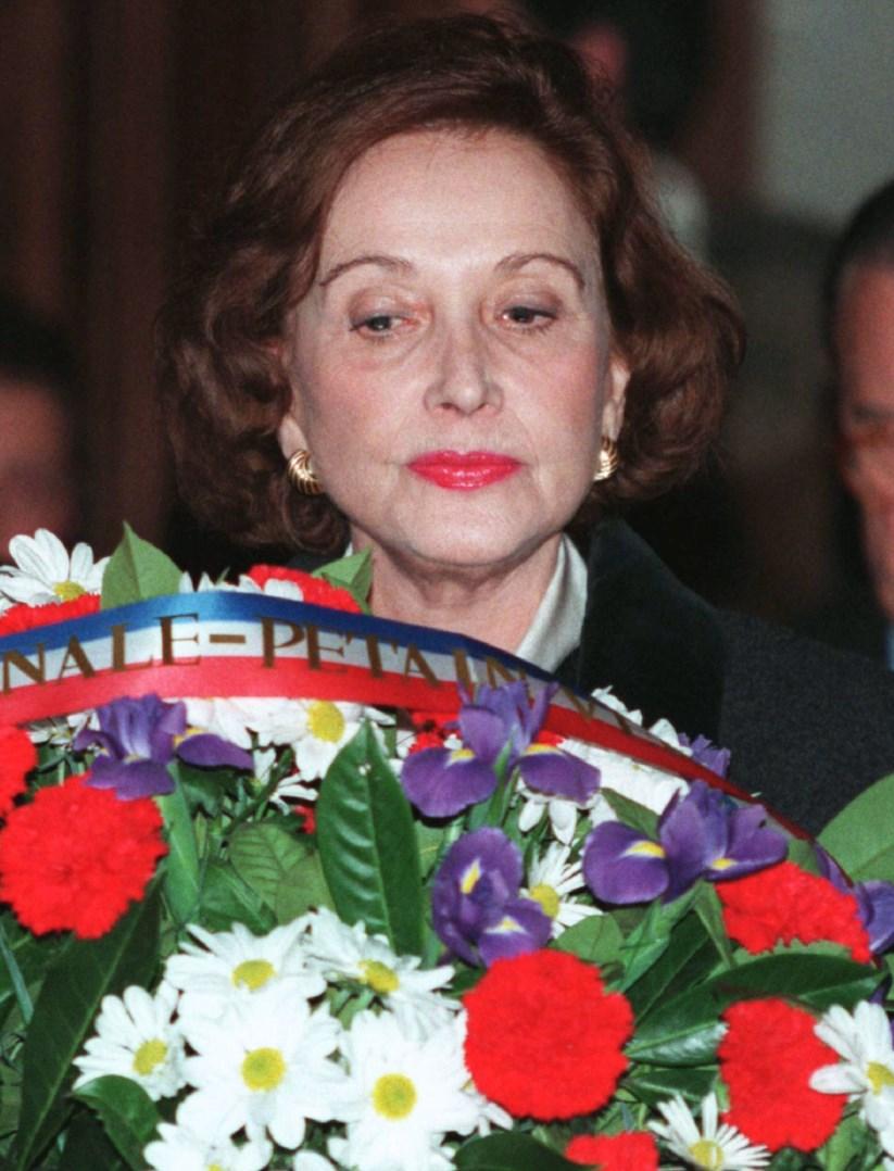 Carmen Franco em 1995, na missa do 20.º aniversário da morte do pai