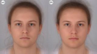 Um dos participantes do estudo: à esquerda está doente e à direita está saudável