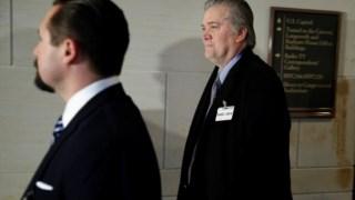 Stephen Bannon foi hoje depor ao Congresso dos EUA sobre a Rússia