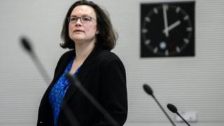 Andrea Nahles é da ala esquerda do SPD