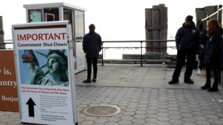 Como consequência do <i>shutdown</i>, a Estátua da Liberdade está fechada