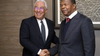 António Costa e João Lourenço encontraram-se à margem do Fórum Económico Mundial