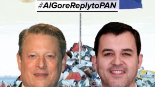 A campanha #AlGoreReplytoPAN prossegue nas redes sociais