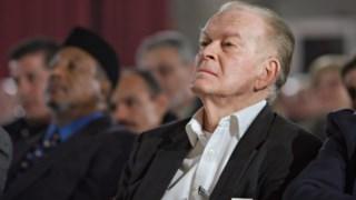 Gene Sharp ao receber o Right Livelihood Prize em 2012