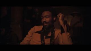 Donald Glover no <i>teaser</i> de <i>Han Solo: Uma História de Star Wars</i>