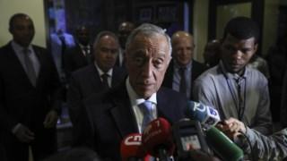 Marcelo falou à chegada a São Tomé e Príncipe, a primeira visita de um Presidente português em 18 anos