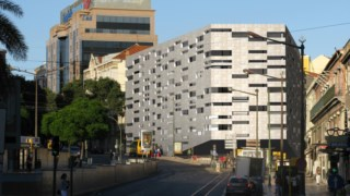 Maqueta do edifício projectado pelos arquitectos Aires Mateus e Frederico Valsassina