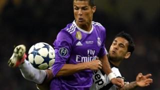 Cristiano Ronaldo bisou na final de Cardiff, frente à Juventus
