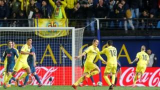 A festa dos jogadores do Villarreal
