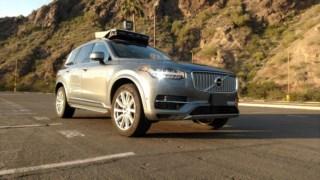 Um dos carros autónomos da Uber