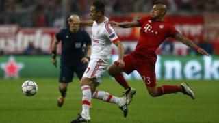 """Arturo Vidal poderá ser uma baixa de """"peso"""" para o jogo contra o Real Madrid"""