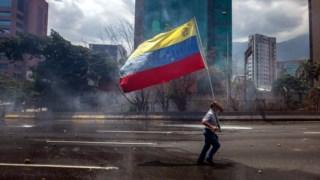 Manifestação da oposição em Caracas, na Venezuela