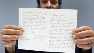 A carta de duas páginas foi endereçada ao filósofo Edouard Schuré