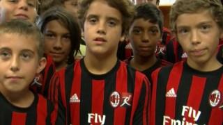 A Scuola Calcio Milan do Porto atrai centenas de crianças que sonham ser futebolistas profissionais DR