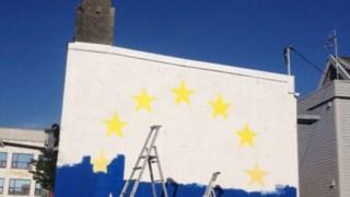 Evolução de uma das paredes pintadas por Miguel Januário DR